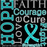 Hope Faith Courage Peritoneal Cancer Shirts