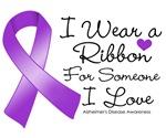 I Wear a Ribbon Alzheimers Disease Shirts