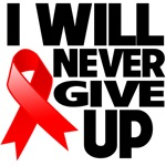I Will Never Give Up Blood Cancer Shirts