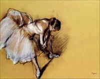 Degas' Dancer Adjusting Her Slipper