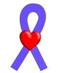 Periwinkle Ribbon Heart