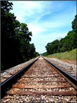 .railroad tracks. color