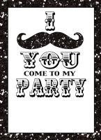 I Mustache You Party Invitation