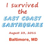 Customizable I Survived the East Coast Earthquake