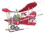 Santa Biplane