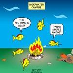 Underwater Campfire