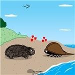 Porcupine Meets Horseshoe Crab