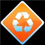 Recycle sign Orange