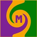 Mardi Gras Swirls Monogram