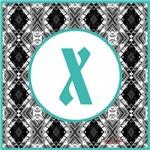 Diamond Turquoise Monogram