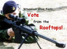 Vote from the Roof Tops