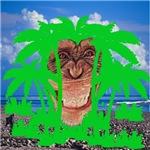 Monkey face in tree