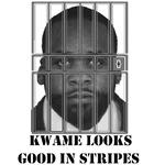 Kwame Kilpatrick looks good in stripes