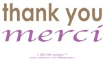 Bi-Lingual 101: THANK YOU, MERCI