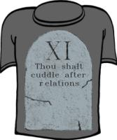 Thou Shalt Cuddle After Relations 11th Commandment