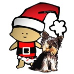 Santa Baby with Yorkie
