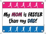 My Mom is FASTER than my Dad - Running