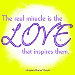 ACIM-Real Miracle is Love