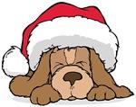 Basset Hound Santa