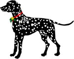 Christmas or Holiday Dalmatian Silhouette