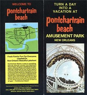 Pontchartrain Beach Brochure Front & Back Cover