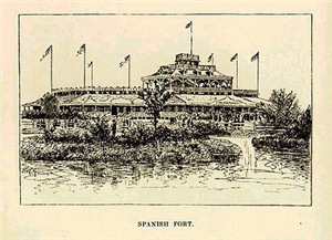 1874 ~ Spanish Fort (from Life on the Mississippi)