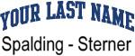 Blue Surname Design Spalding - Sterner