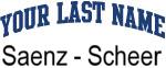 Blue Surname Design Saenz - Scheer