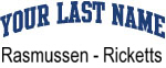 Blue Surname Design Rasmussen - Ricketts