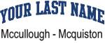 Blue Surname Design Mccullough - Mcquiston