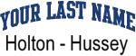 Blue Surname Design Holton - Hussey