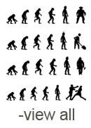 Evolution Silhouettes