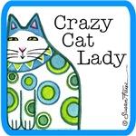 CRAZY CAT LADY IN BLUE