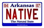 Arkansas License Plate (Native)