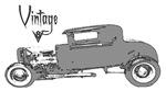Vintage V8 Hot Rod-Silver