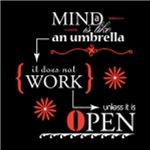 Mind Umbrella, on Black