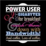 Power User, on black