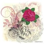 Mini Rose Antique Flourish