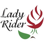Dark Red Rosebud Lady Rider