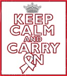 Mesothelioma Keep Calm Carry On Shirts