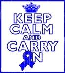 Colon Cancer Keep Calm Carry On Shirts