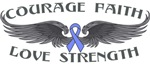 Stomach Cancer Courage Wings Shirts