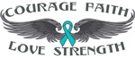 Ovarian Cancer Courage Wings Shirts