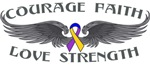 Bladder Cancer Courage Wings Shirts