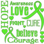 Lymphoma Hope Words Shirts
