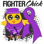 Leiomyosarcoma Fighter Chick Shirts