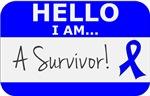 Colon Cancer Hello I'm A Survivor Shirts