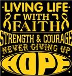 Childhood Cancer Living Life With Faith Shirts