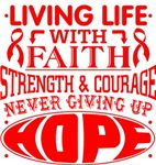 Blood Cancer Living Life With Faith Shirts