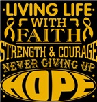 Appendix Cancer Living Life With Faith Shirts